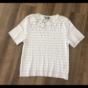 Zara Short Sleeve Knit Top NWT
